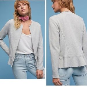 Anthropologie Dolan Left Coast Knit Peplum Jacket